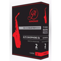 Caja De 10 Cañas Para Saxo Alto Gonzalez Classic