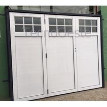 Portón Garaje Levadizo Manual Aluminio Blanco 240 Cm 1/4 Rep