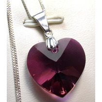 Corazón Lilac S Plata Cristal Original Swarovski-elements.