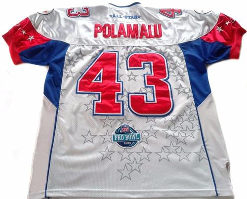bead1046f6 Camiseta Nfl Reebok T Polamalu Steelers Coleccion Probowl Xl