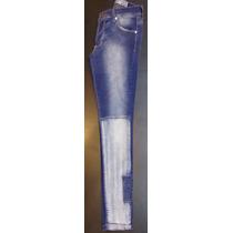 Jeans Elastizado Mujer Tiro Alto Con Parche Unico Exelente