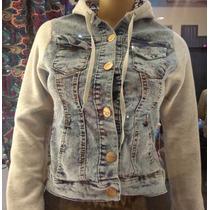 Campera Jeans Elastizado Con Algodòn Frizado Talle S Al Xl