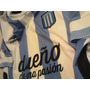 Camiseta Racing Negra Blanca 2014 S Xxxl Retro Campeon