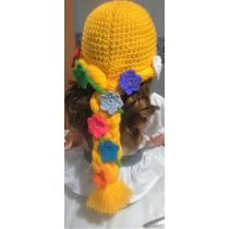 Gorro Peluca Rapunzel Crochet. 100% Artesanal