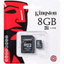 Memoria Micro Sd 8 Gb Kingston Blister Sellado