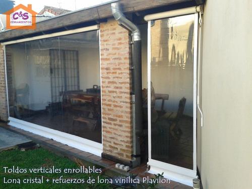 Cerramiento o toldo vertical enrollable de lona cristal toldos a ars 59 en preciolandia - Toldos verticales enrollables ...