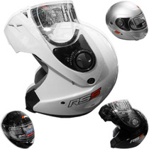 Casco Rebatible Hawk Blanco Rs5 Serie 2014 En Devotobikes