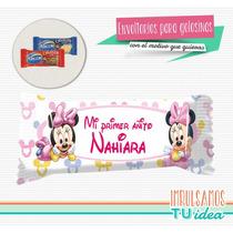 Minnie Bebé - Envoltorio Chocolatín Para Imprimir
