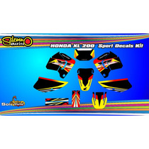 Kit Calcos Honda Xl 200 Con Laminado Anti Rayas