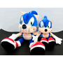 2 Peluches Sonic The Hedgehog Sega (grande Y Chico)
