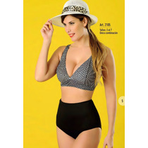 Bikini Talle Xxl Combinada Bombacha Alta