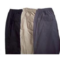 Pantalón  Náutico Talles Grandes C/elast Talles Del 54 Al 80