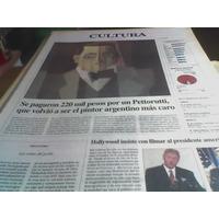 Diario Perfil 1998 220 Mil Pesos Por Un Cuadro Pettorutti