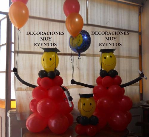 Adorno decoraci n con globos egresado egresados 380 hbxj3 for Decoracion con globos precios