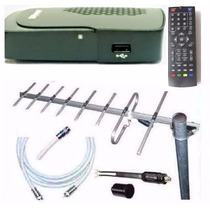 Kit Tv Digital Tda Antena Ext Cables Decodificador Gtia