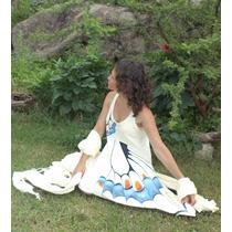 Ropa Original Y Artesanal Hippie Chic Pintada A Mano Vestido
