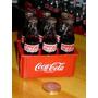 Coca Cola Mini Botellas De Vidrio Cajon X6 Ed.paises Dec`80