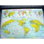 Mapa - Planisferio- Año 1946 Universidad De Columbia