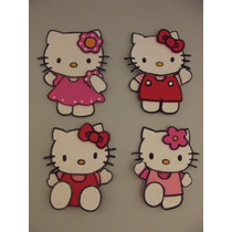 Aplique De Hello Kitty En Goma Eva X 10 U.