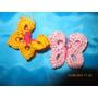 Flores Y Mariposas Crochet X 12 Unidades