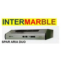 Purificador Spar Aria Duo Con Frente Acero 60cm 2 Motores