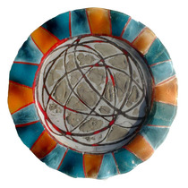 Plato Para Torta, Posa Torta, Fuente 28cm Vitrofusión Vidrio