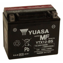 Bateria Motos Yuasa Ytx12-bs 12v10ah +acido Yamaha Suzuki