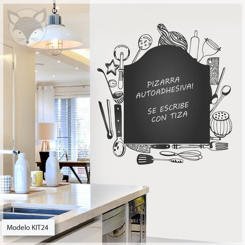 Vinilos Decorativos Cocina Comedor Living Pizarra - Medida A ...