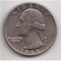 Estados Unidos 1 Quater Dolar Año 1965 !!!