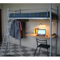 Cama cucheta con escritorio camas en mercadolibre argentina for Cama puente con escritorio