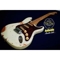 Fender Stratocaster Usa Vintage White Relic Telecaster Mim