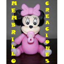Souvenirs En Porcelana Fria De Minnie Version Bebe