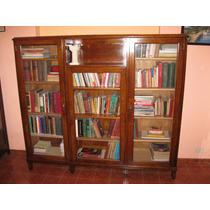 Antigua Biblioteca Vitrina Exhibidor Armario De Ministerio