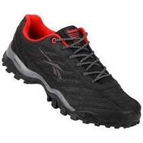 Zapatillas Reebok Cross City. Negro/rojo