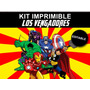 Kit Imprimible Editable Los Vengadores Avengers Candybar