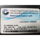 Instalacion Colocacion Aire Acond Split Matricula Calefactor