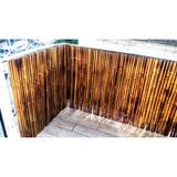 Cerco De Caña Bambu Tacuara Quemada Y Barnizada Oferta!!!