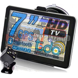 Gps 7  Hd  Tv Digital Igo Bluetooth 4gb Con Camara Trasera