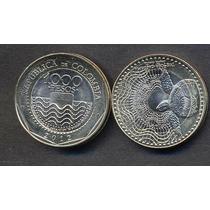 Colombia Moneda De 1000 Pesos Bimetalica 2012 Tortuga Marina