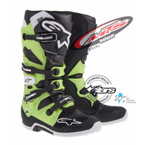 Bota Cross Enduro Alpinestar Tech 7 2016 Verde Kawa Moto Sur