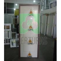 Aberturas: Puerta Placa Crafmaster 80x200 C/marco Chapa