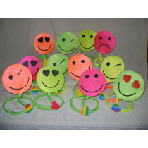Gorros Emoticones Super Fluo Pack X 3 Unid