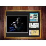 Ozzy Osbourne En Argentina Foto Firmada Y Tres Entradas