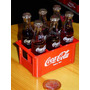 Coca Cola Mini Botellas De Vidrio Cajon X6 Ed.p.ant Dec`80