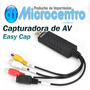 Easy Cap, Capturadora De Video Y Audio, Vhs A Pc, 8mm A Pc