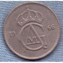 Suecia 50 Ore 1966 * Gustaf Vi * Casi Sin Circular *