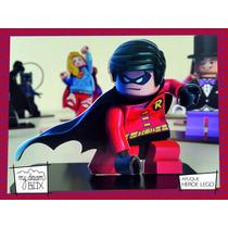 Souvenir Personalizado Madera 60cm Héroe Lego Robin Batman