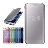 Funda Para Samsung Tipo Flip Cover Clear View Traslucida