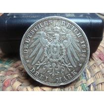 Moneda De Plata Deutsches Reich 1914 Ludwig Iii Bayern 3 Mar