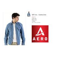 Camisa De Jean Aero Con 2 Bolsillos M/larga